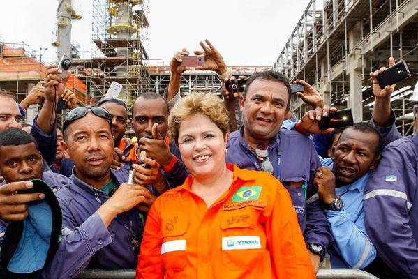Dilma em visita a Pernambuco