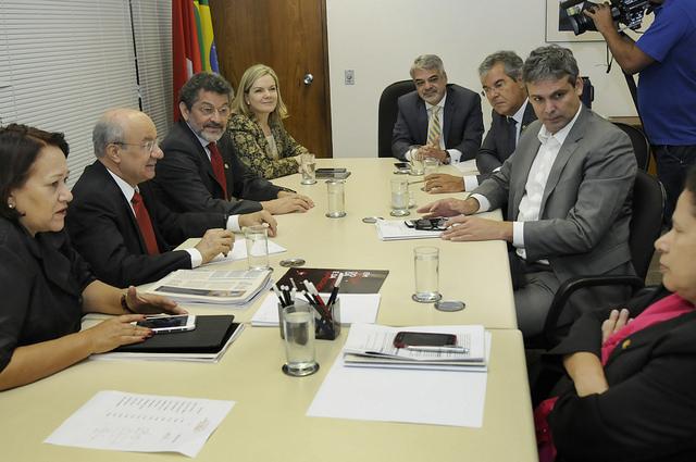 Bancada do PT se reuniu nesta quarta-feira para tratar da pauta legislativa. Foto: Alessandro Dantas/ Liderança do PT no Senado