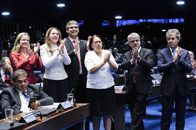 Senadores contrários ao impeachment de Dilma pedem investigação de Jucá na PGR. Foto: Jonas Pereira/Agência Senado