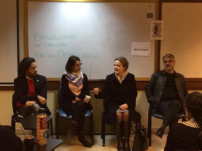 Humberto convocou todos a organizar uma manifestação no dia 4 de julho em Montevidéu, quando deve ocorrer a Cúpula do Mercosul na cidade e da qual devem participar Michel Temer e José Serra. Foto: Assessoria de Imprensa