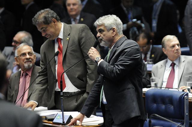 Para Humberto, ao longo dos governos Lula e Dilma, a empresa foi dirigida de forma democrática e a acusação de que se tratava de um aparelho da esquerda é fantasiosa. Foto: Alessandro Dantas/ Liderança do PT no Senado
