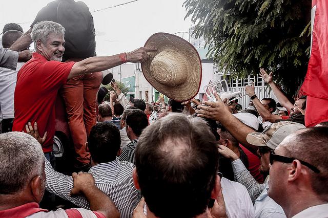 Líder da Oposição, Humberto tem andando pelo país em campanha contra as reformas de Temer. Foto Roberto Stuckert Filho